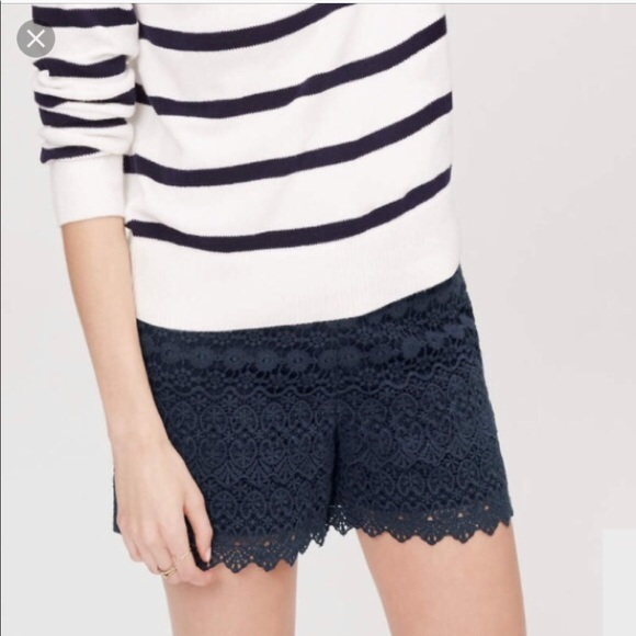 navy lace shorts